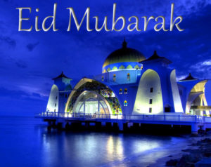 Eid Mubarak wishes with beautiful mosque pic