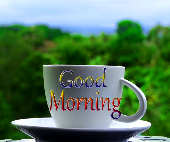 Good Morning beautiful a cup image