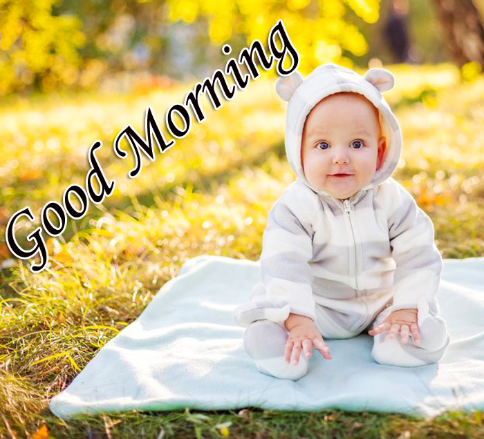 Good Morning nice with cute baby image