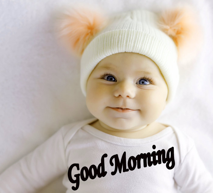Good Morning smile with cute baby pic