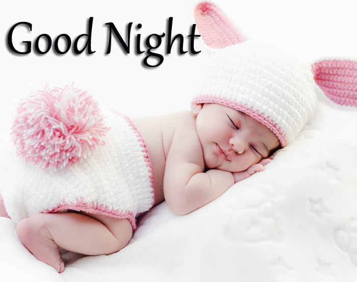 Good Night beautiful baby with a sleep image