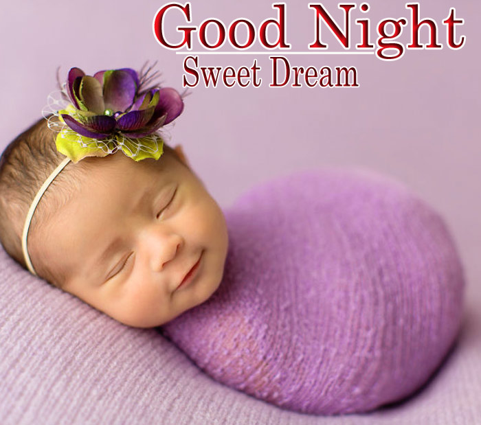 Good Night cute baby with a sleeping image