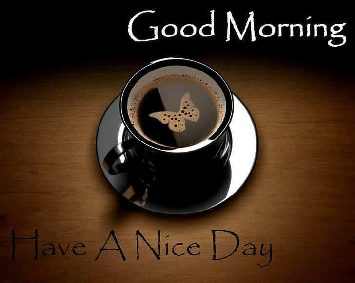 Image of good morning Have a nice day with a cup of coffee