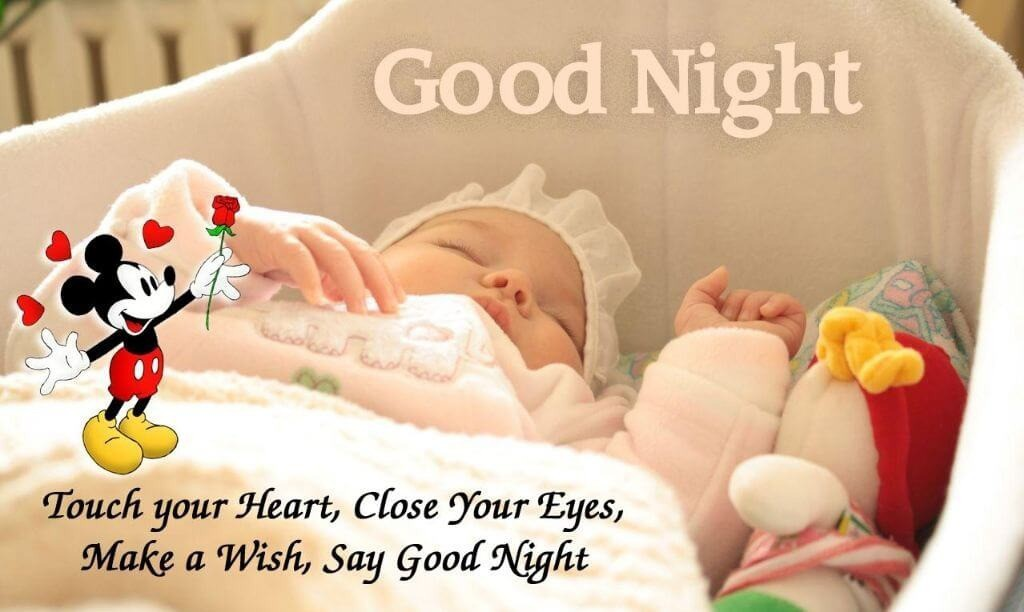 Good night quotes with sleeping baby