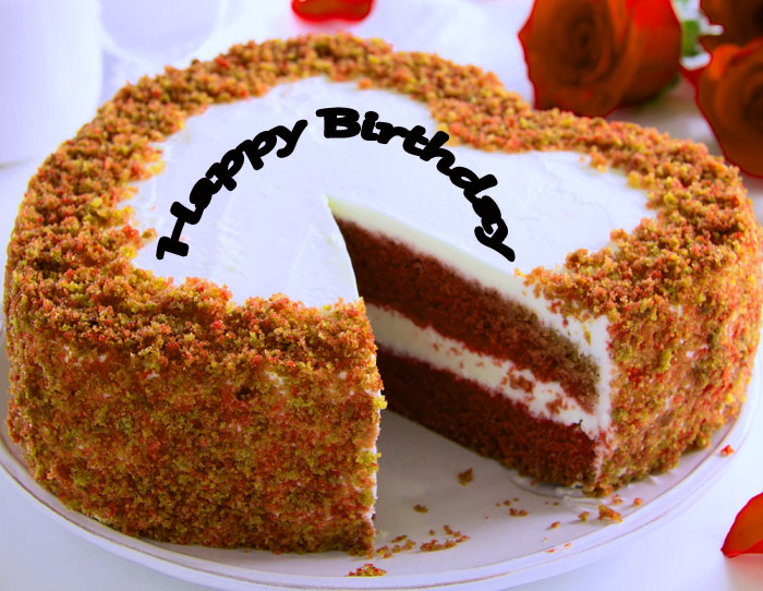 Happy Birthday beautiful a Dil cake image