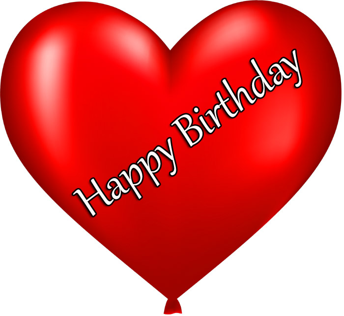 Happy Birthday wishes a red color balloons pic