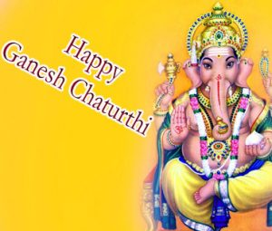 Happy Ganesh Chaturthi wishes with beatiful Lord ganesha pics