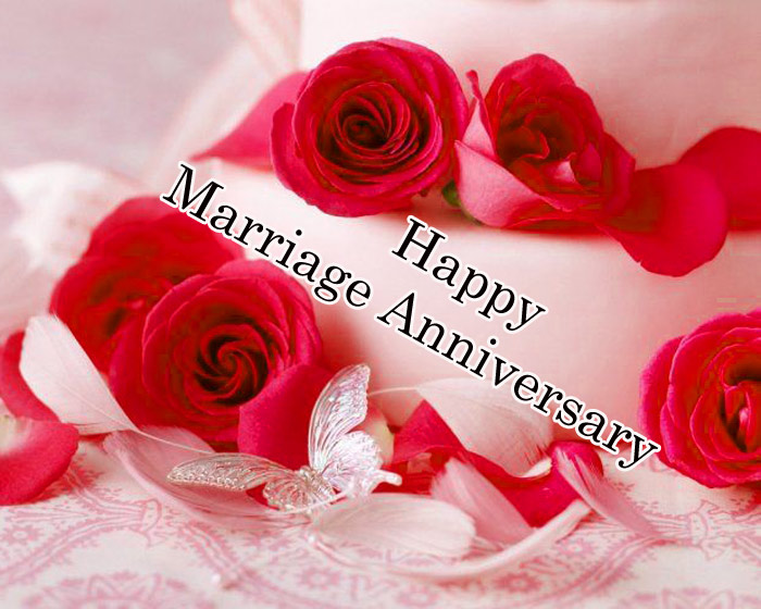 Happy Marriage Annivarsary butter with a flower image