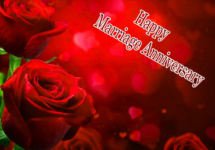 Happy Marriage Annivarsary red rose flower image