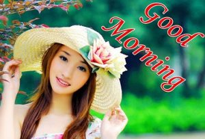 good morning image with cute girl