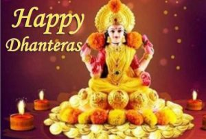 Happy Dhanteras images with Lord Lakshmi