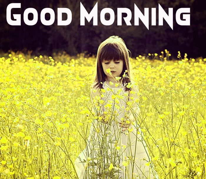 cute girl with good morning image