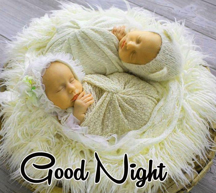 Cute Baby Good Night images with two hd download