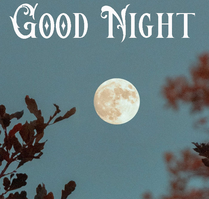 Good Night cropped full moon images hd