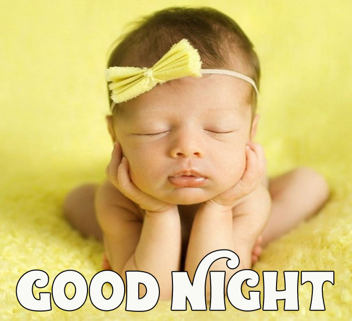 Good Night cute baby girl images hd