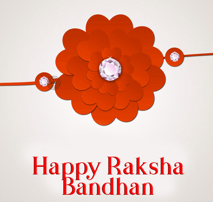 Happy Raksha Bandhan images with red hd