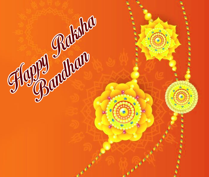Happy Raksha Bandhan images with yellow