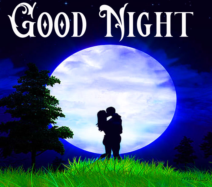 beautifull lover Good Night moon image hd download