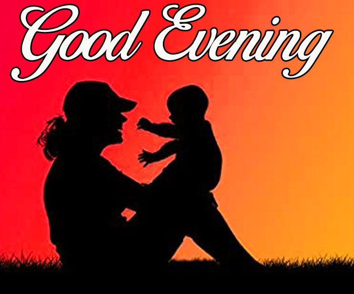 best mom and baaby Good Evening photo hd