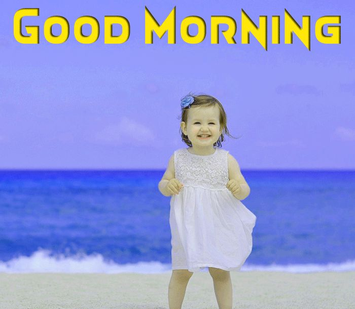 cute baby morning pic