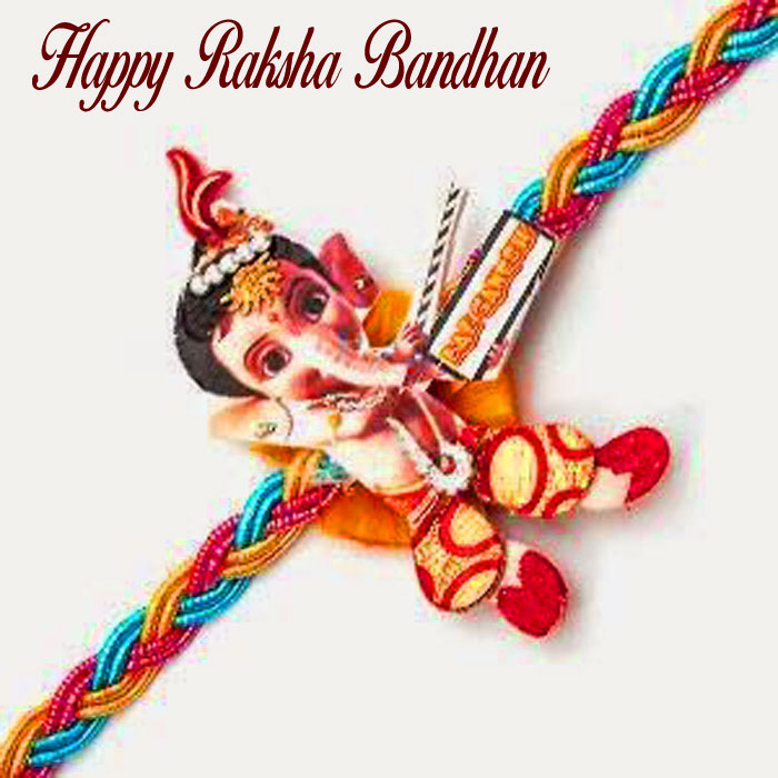 latest Happy Raksha Bandhan images with ganesha hd