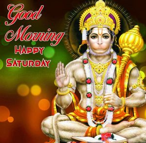 latest jai shree Hanuman Good Morning Happy Saturday photo free download