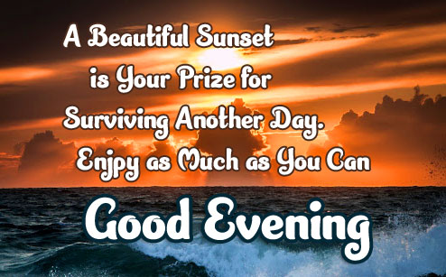 Good Evening Message with Life Quote