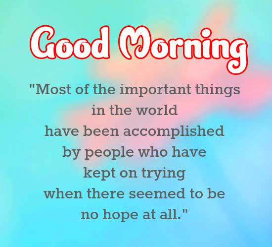 Good Morning Message with Hopeful Quote