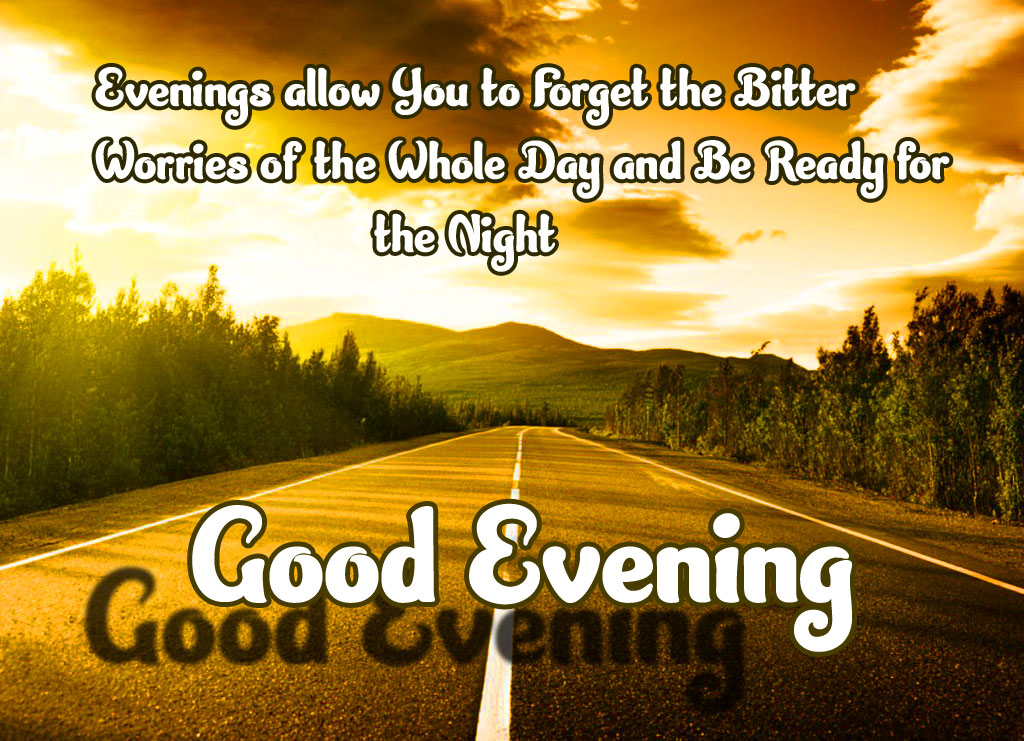 HD Sunset Highway with Good Evening Message