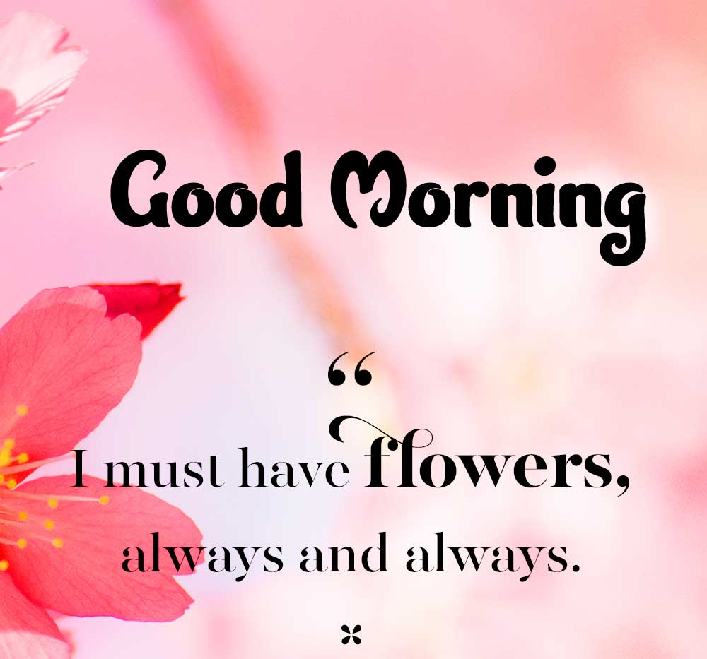 Quoted Flower Good Morning Image