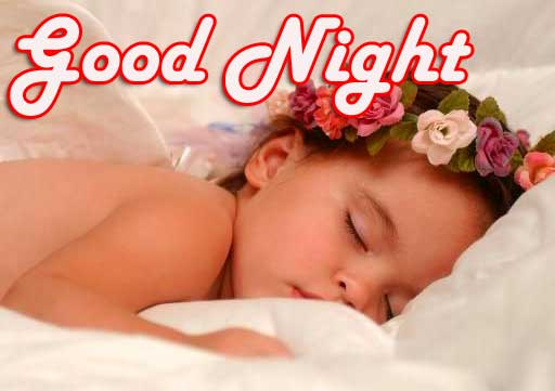 lovely cute baby good night images