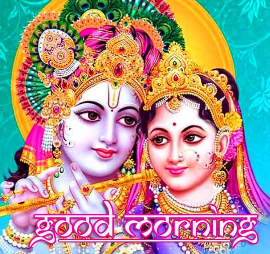 d Radha and Krishna Good Morning Image