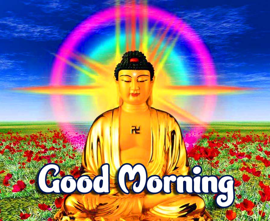 Amazing Buddha with Good Morning Pic