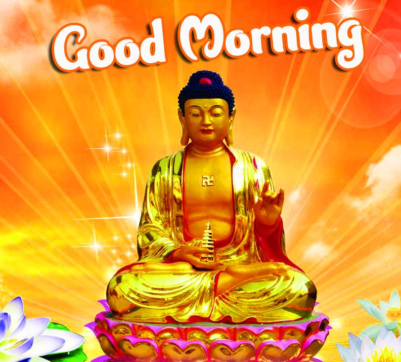 Amazing Buddha with Good Morning Pic HD