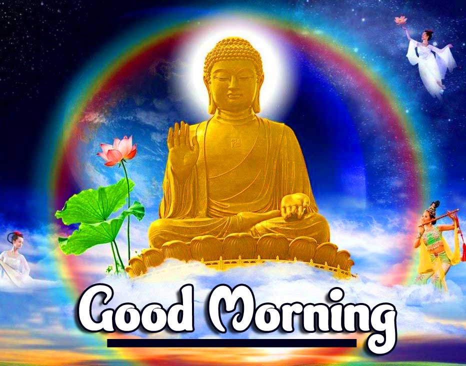 Amazing Buddha with Good Morning Wallpaper