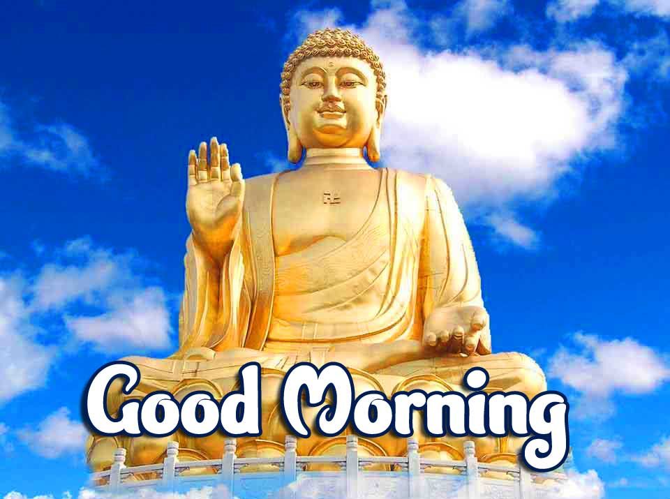 Amazing Buddha with Good Morning Wallpaper HD