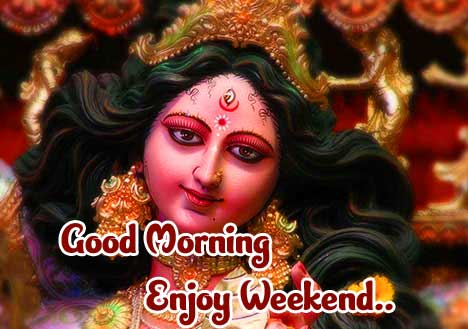 Angry Durga Maa Photo with Good Morning Blessing Imaage