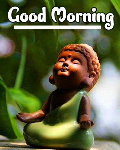 Baby Buddha with Good Morning Message