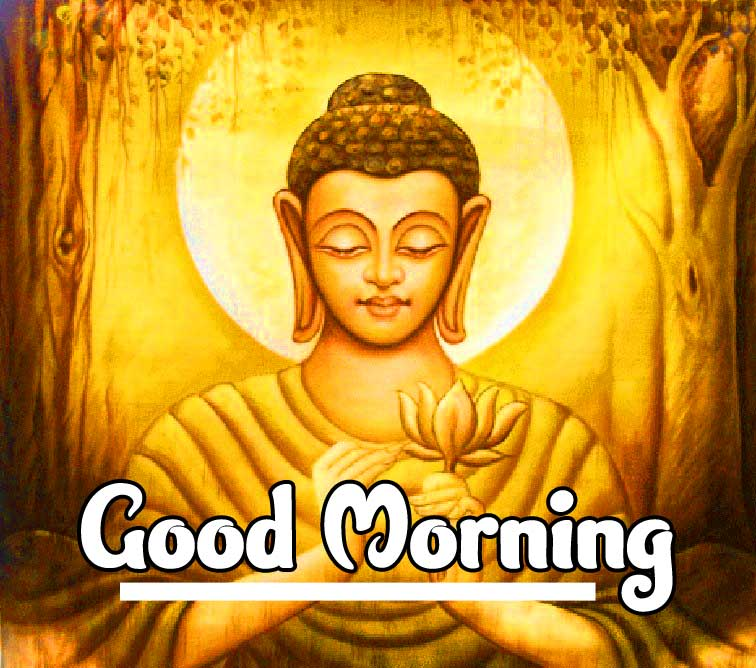 Beautiful Buddha Good Morning Picture