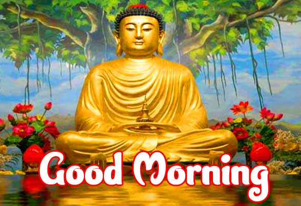 Beautiful Buddha Good Morning Wallpaper