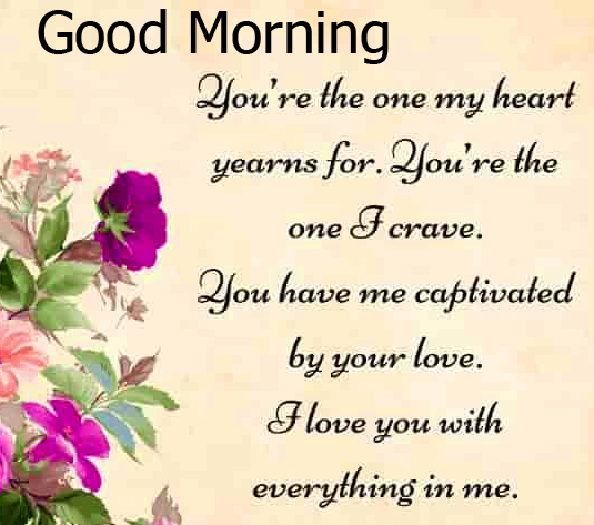 Beautiful Flower Quoted Good Morning Image