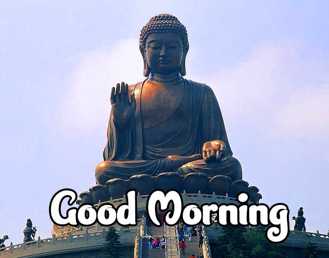 Beautiful Gautam Buddha Good Morning with Peaceful Day Message