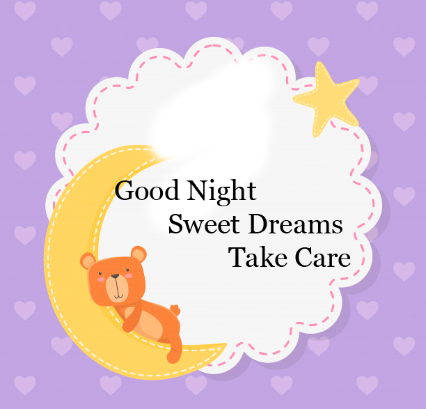 Beautiful Good Night Card Image Copy