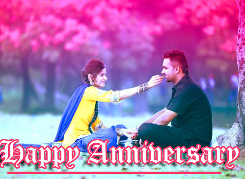 Beautiful Happpy Anniversary on Couple Image