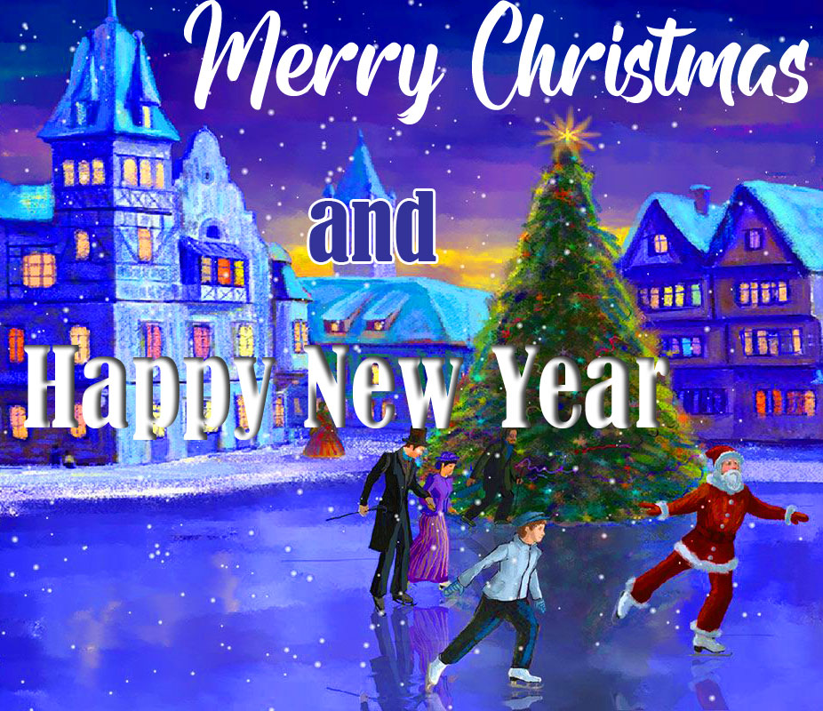 Beautiful Merry Christmas and Happy New Year Image