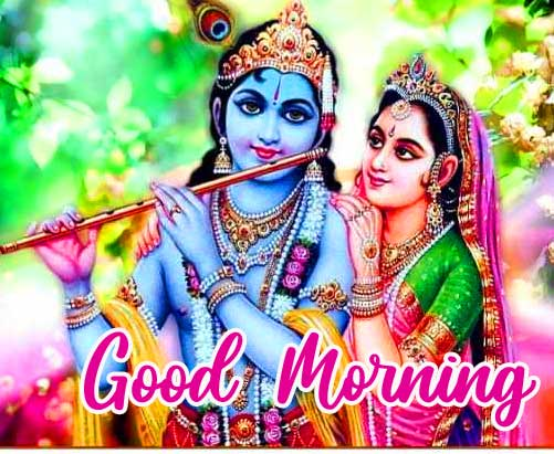 Beautiful Radha and Krishna Good Morning Image