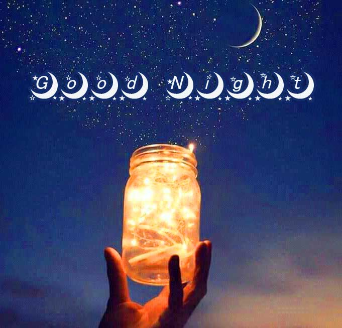 Beautiful Shining Jar Good Night Image