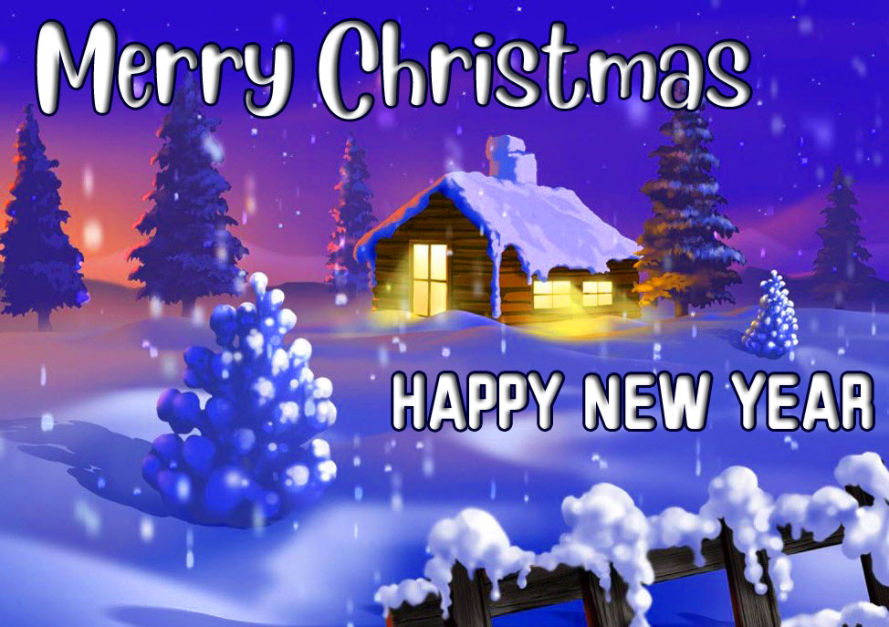 Best Merry Christmas and Happy New Year Wallpaper