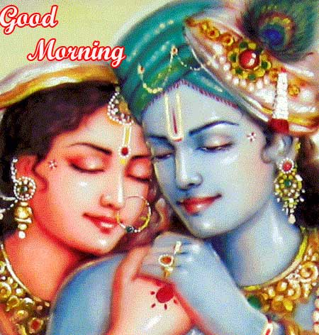 Best Radha and Krishna Pics with Good Morning Wish