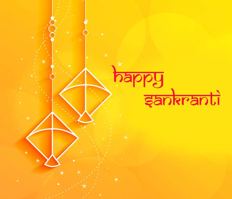 Best Yellow Happy Sankranti Pic